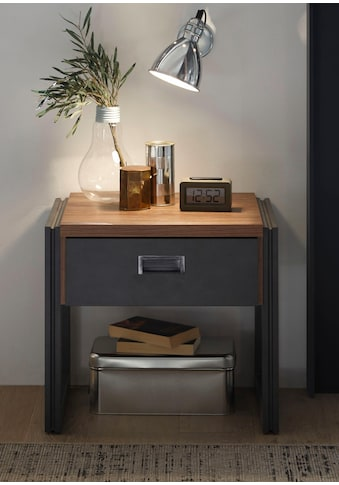 Home affaire Nachttisch, Breite 55 cm, in angesagtem Industrial Look kaufen