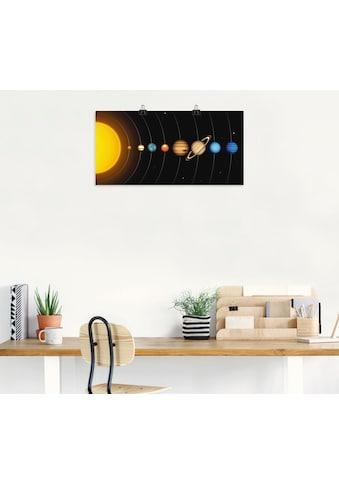 Artland Wandbild »Vector Sonnensystem mit Planeten«, Sonnensystem, (1 St.), in vielen... kaufen