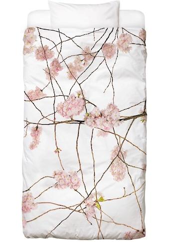 Juniqe Bettwäsche »Flora - Japanische Kirsche«, In vielen weiteren Designs erhältlich kaufen
