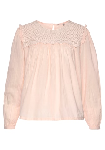 Superdry Crepebluse »ELLISON LACE LONG SLEEVE TOP«, mit Spitzeneinsatz kaufen