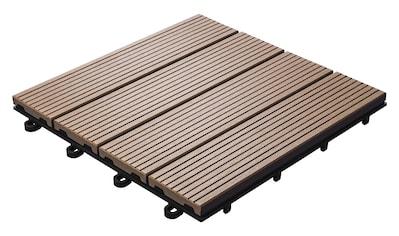 florco® Terrassenplatten »WPC braun 30 x 30, 6 Stk.« kaufen