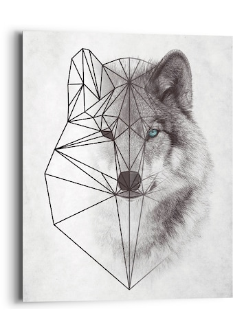 Reinders! Holzbild »Polygonic Wolf«, (1 St.) kaufen