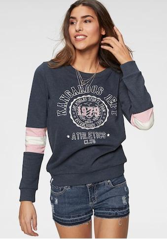 KangaROOS Sweatshirt, mit sportlichen Kontrasteinsätzen am Ärmel kaufen