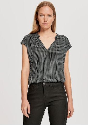 OPUS Blusenshirt »Sandi spott«, mit kleinen Ärmeln mit Aufschlag kaufen