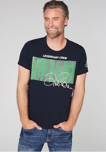 CAMP DAVID T-Shirt, mit grossem Logofrontprint kaufen
