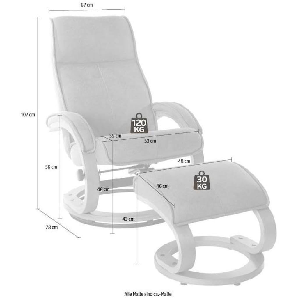 my home Relaxsessel »Lille«, aus weichem Luxus-Microfaser Bezug und einem schönen Holzgestell, Sitzhöhe 46 cm