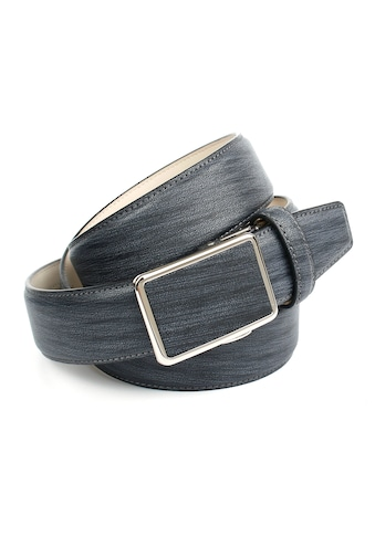 Anthoni Crown Ledergürtel, mit Designmuster, eleganter Herrengürtel kaufen