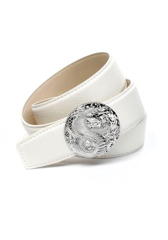 """Anthoni Crown Ledergürtel, in weiss mit Schliesse """"Kobra"""" kaufen"""