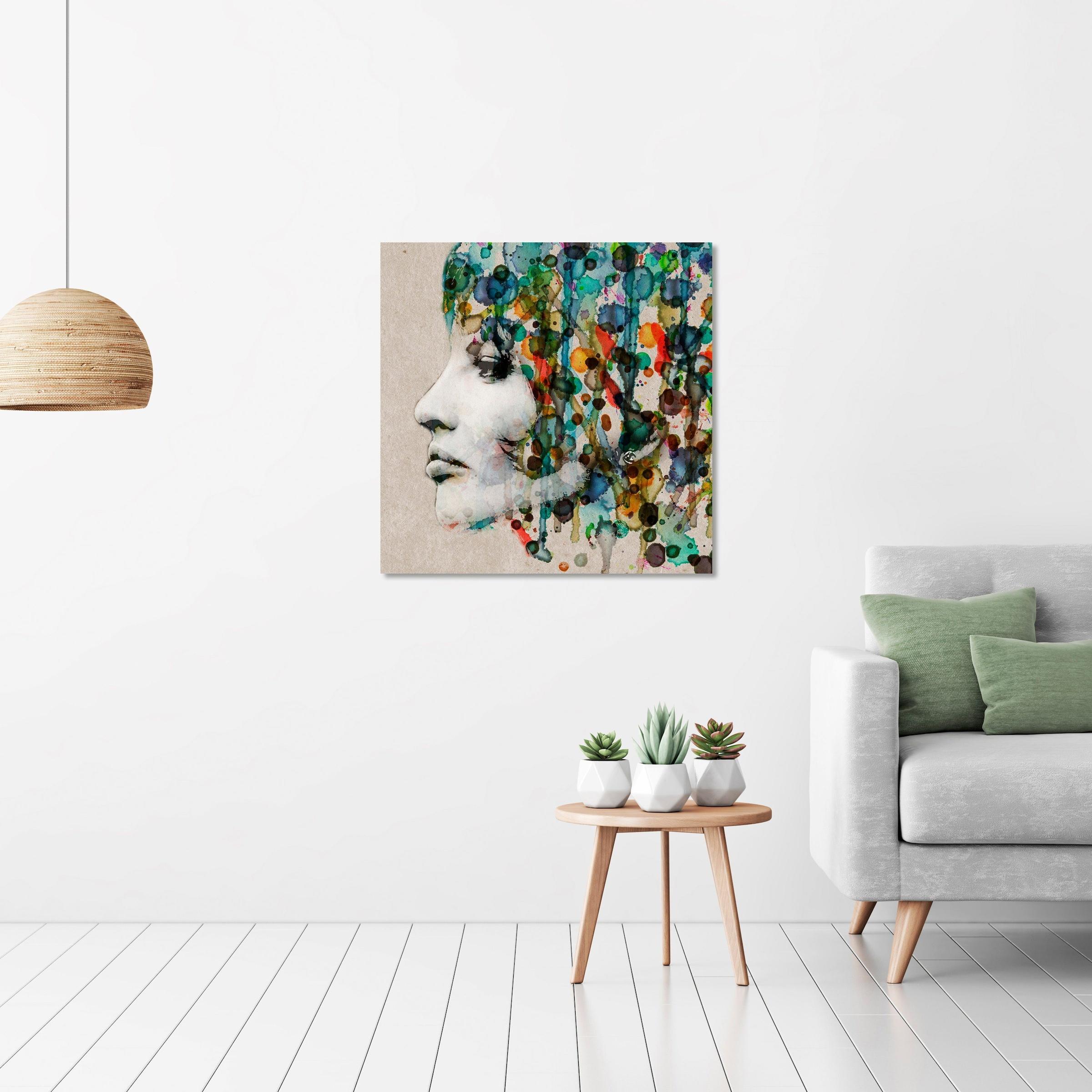 Image of Art & Pleasure Acrylglasbild »Aquarell face«, Abstrakt