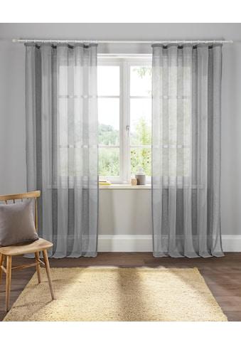 Home affaire Gardine »Mara«, transparent, Leinen Optik, monochrom, basic kaufen