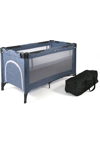 CHIC4BABY Baby-Reisebett »Luxus, Jeans Blue«, inkl. Transporttasche kaufen