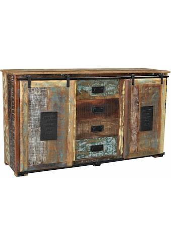 SIT Sideboard »Jupiter«, aus recyceltem Altholz, Shabby Chic, Vintage kaufen