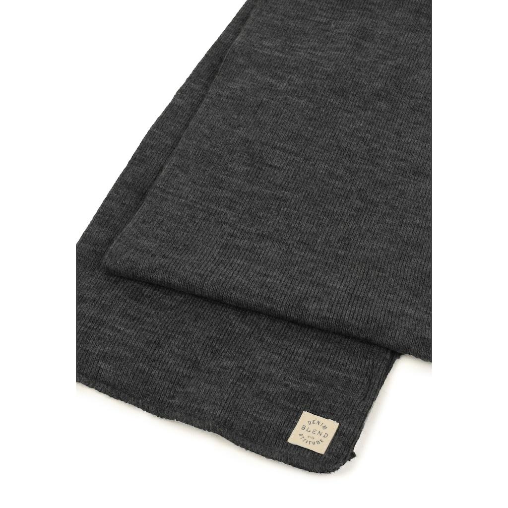 Blend Strickschal »Scar«, Schal mit Logobadge