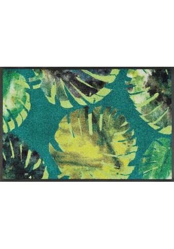 wash+dry by Kleen-Tex Fussmatte »Philo Leaves«, rechteckig, 7 mm Höhe, Schmutzfangmatte kaufen