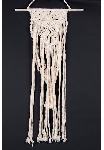 THEKO Wanddekoobjekt »Wallart Triangel«, Makramee-Wanddeko, Wandbehang, reine... kaufen