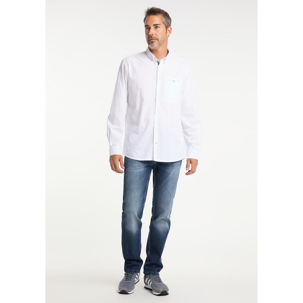 Pioneer Authentic Jeans Langarmhemd, Dobby-Struktur