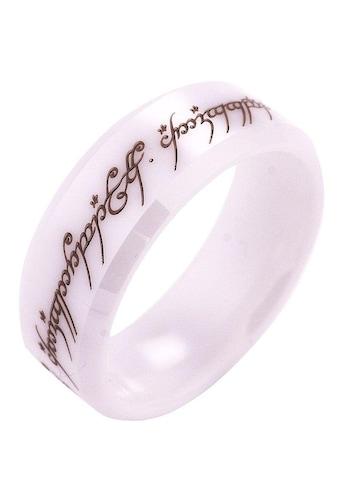 Der Herr der Ringe Fingerring »Der Eine Ring - Keramik weiss, 20003816«, Made in Germany kaufen