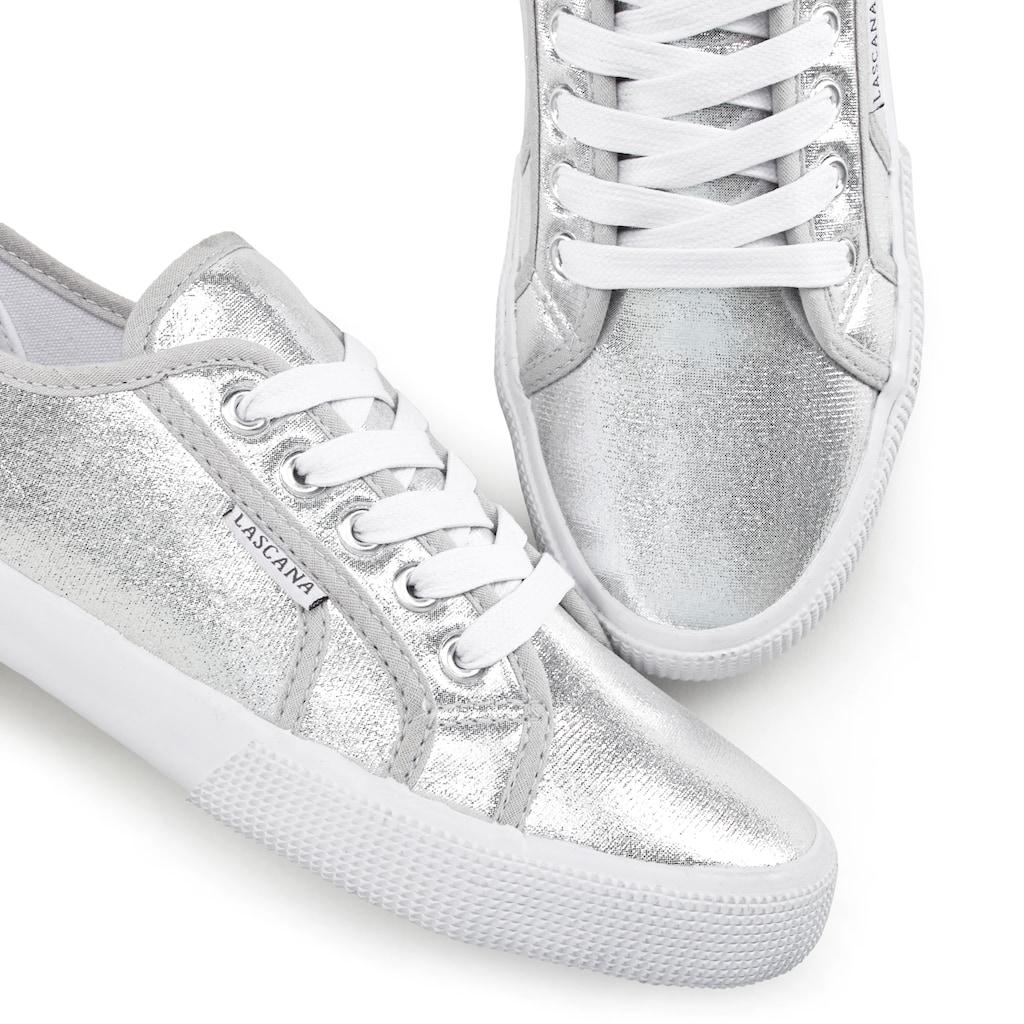 LASCANA Sneaker, in Metallic-Optik