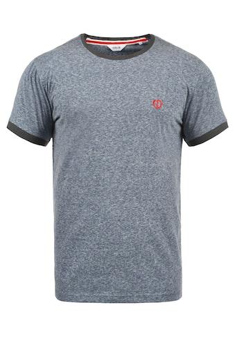 Solid Rundhalsshirt »BennTee«, Kurzarmshirt mit farblich abgesetztem Kragen und Ärmelsaum kaufen