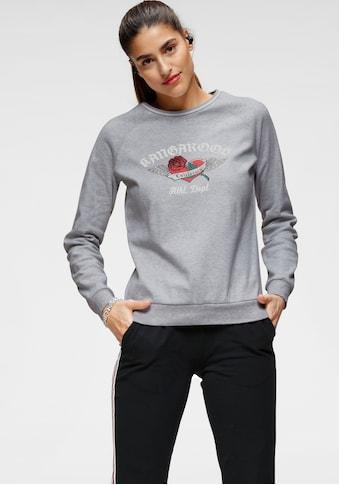 KangaROOS Sweatshirt, mit schimmerndem Front-Druck kaufen