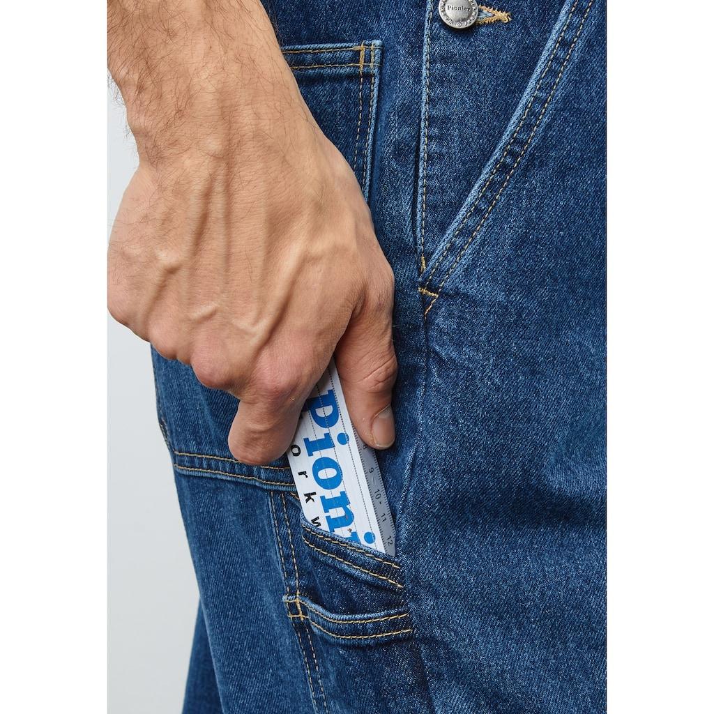 PIONIER WORKWEAR Jeans Latzhose stone-washed