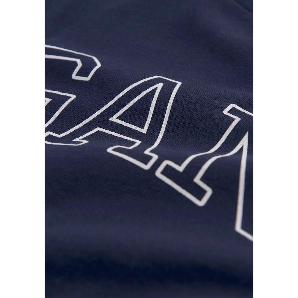 Gant Langarmshirt, mit typischem Logo-Print auf der Brust