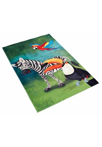 Böing Carpet Kinderteppich »Lovely Kids 402«, rechteckig, 6 mm Höhe, Motiv Zebra kaufen