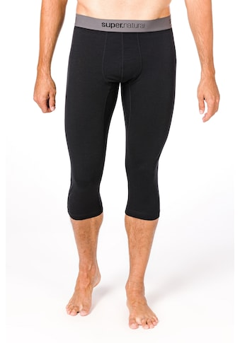 SUPER.NATURAL Funktionstights »M BASE 3/4 TIGHT 230«, funktioneller Merino-Materialmix kaufen