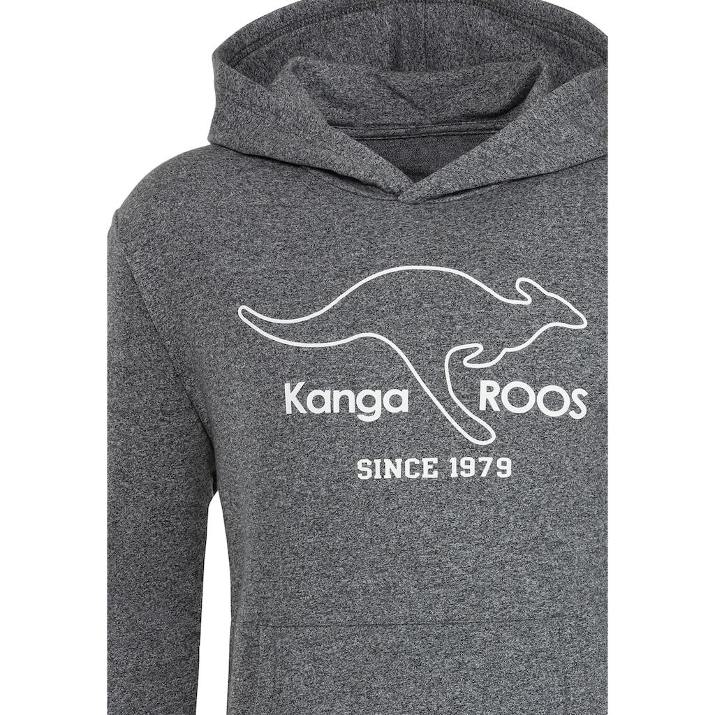 KangaROOS Kapuzensweatshirt, mit breiten Bündchen an den Abschlüssen