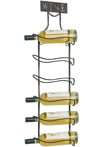 """Home affaire Weinregal """"Weinregal aus Metall für 6 Weinflaschen zum Aufhängen"""" kaufen"""