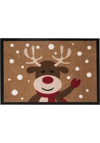 HANSE Home Fussmatte »Reindeer«, rechteckig, 7 mm Höhe, Schmutzfangmatte, In- und... kaufen