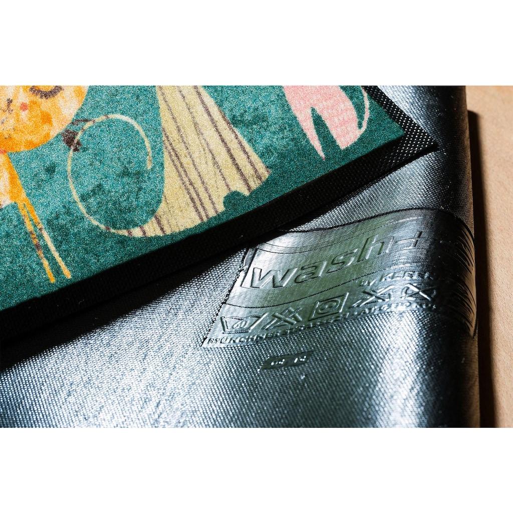wash+dry by Kleen-Tex Fussmatte »Klara Lisa&Marie«, rechteckig, 7 mm Höhe, Schmutzfangmatte