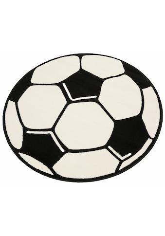 Kinderteppich, »Fussball«, HANSE Home, rund, Höhe 10 mm, maschinell gewebt kaufen