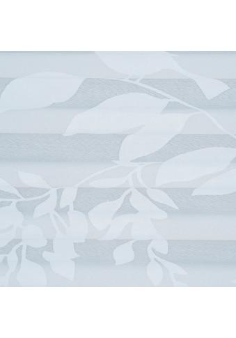 Liedeco Plissee »Ausbrenner Blatt«, Lichtschutz, ohne Bohren, verspannt kaufen