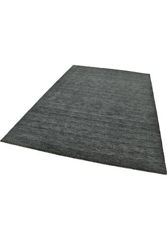 THEKO Wollteppich »Haltu Uni«, rechteckig, 17 mm Höhe, reine Wolle, handgewebt,... kaufen