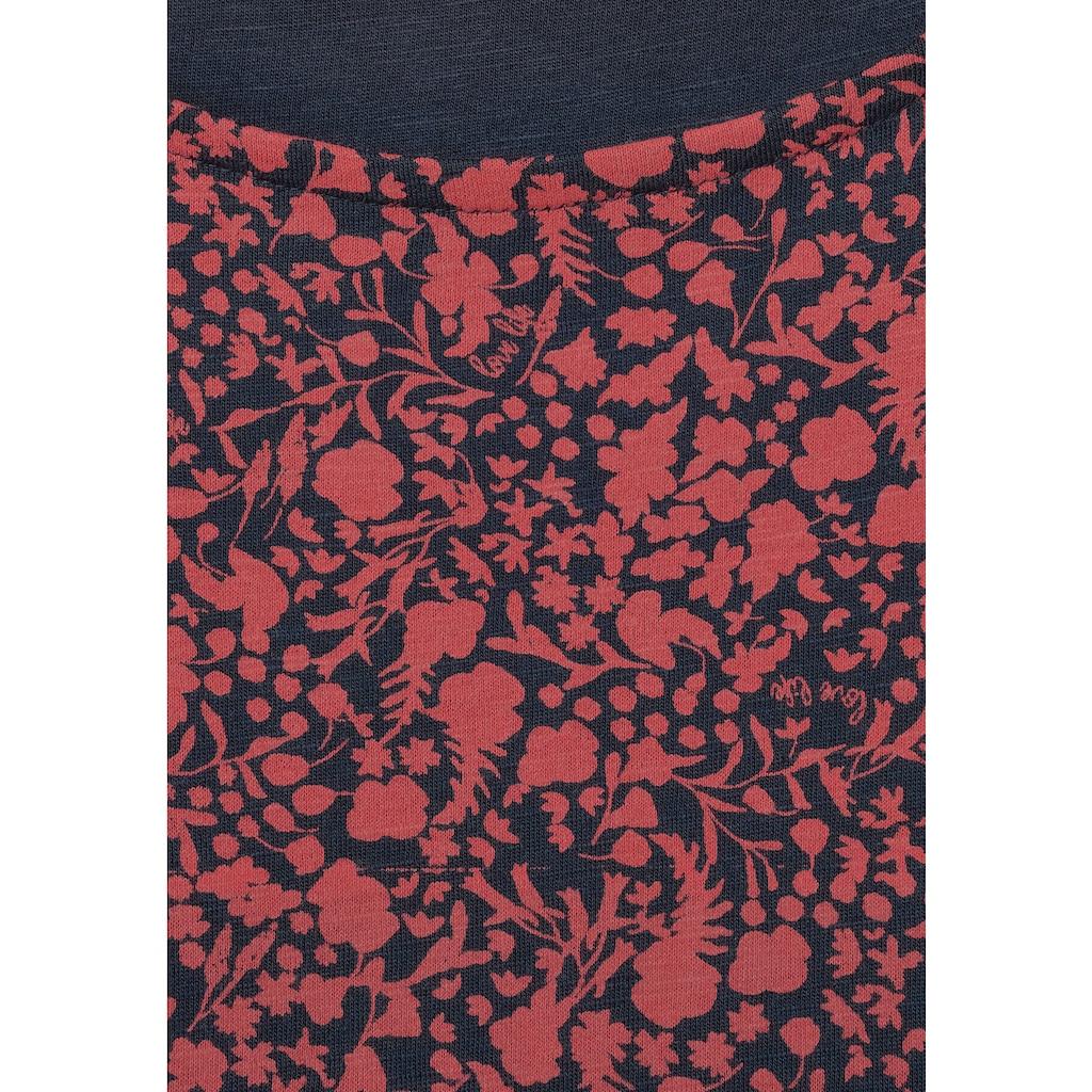Cecil Rundhalsshirt, mit Blumenmuster
