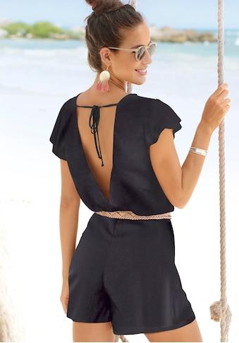 s.Oliver Beachwear Kurzoverall, mit tiefem Rückenausschnitt kaufen
