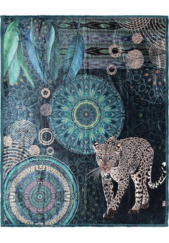hip Plaid »Imena«, mit Mandalas und Schneeleopard kaufen