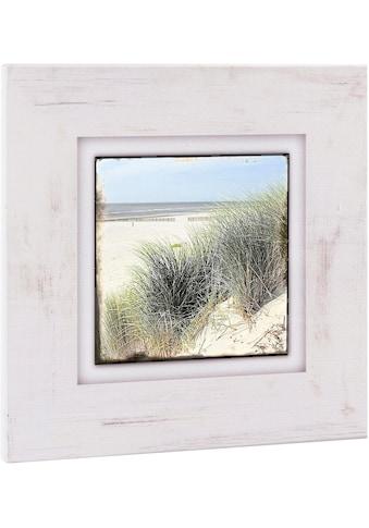 Home affaire Holzbild »Strand mit Gräsern«, 40/40 cm kaufen