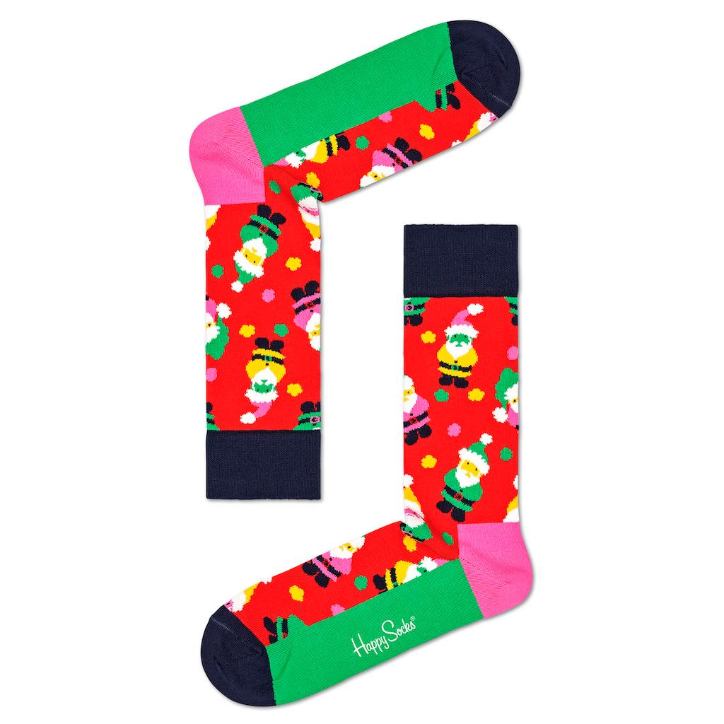Happy Socks Socken »Santa«, mit weihnachtlichen Motiven