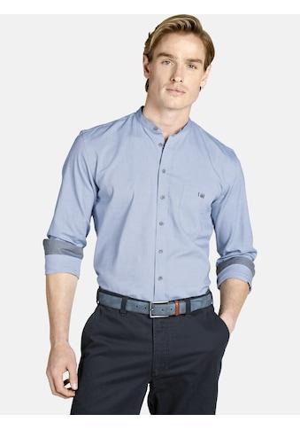 Charles Colby Langarmhemd »EARL ALEC«, Baumwollhemd mit Stehkragen kaufen