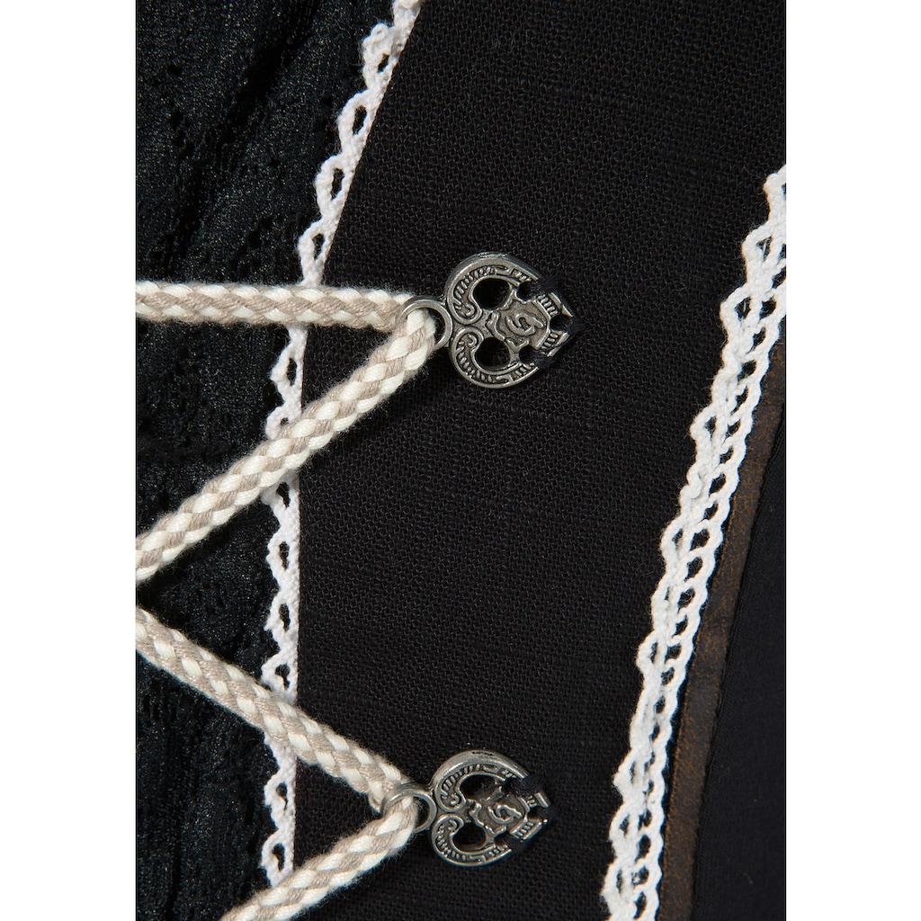 MarJo Trachtenshirt, mit Bänderschnürung