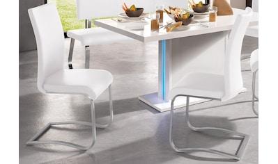 MCA furniture Freischwinger »Arco«, 2er-Set, Stuhl mit Echtlederbezug, belastbar bis 130 Kg kaufen