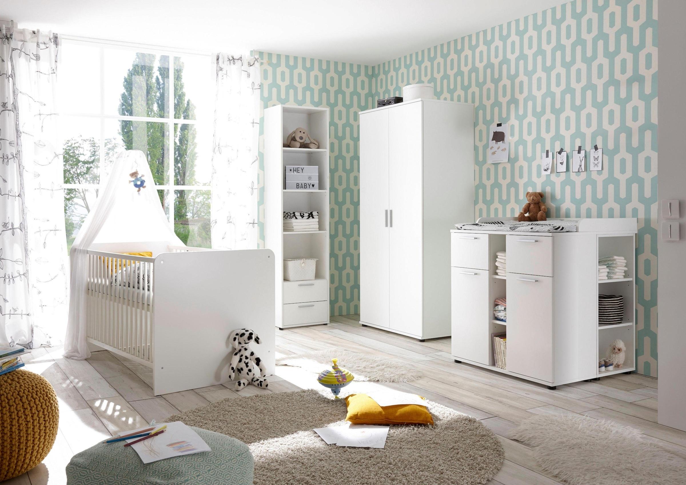 Image of Begabino Babyzimmer-Komplettset »Bibo«, (Set, 3 St.), Bett + Wickelkommode + 2-trg. Schrank