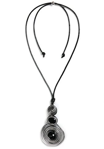 J.Jayz Kette mit Anhänger »mit drei Spiral-Kreisen«, mit Glassteinen kaufen