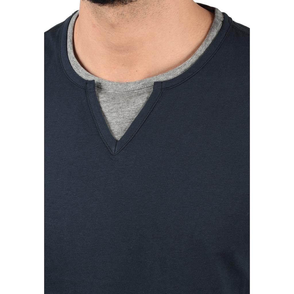 Blend Layershirt »Leonis«, T-Shirt in Double-Layer-Optik