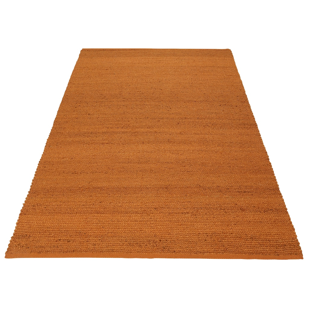 Home affaire Teppich »Hanf Uni«, rechteckig, 5 mm Höhe, Wohnzimmer