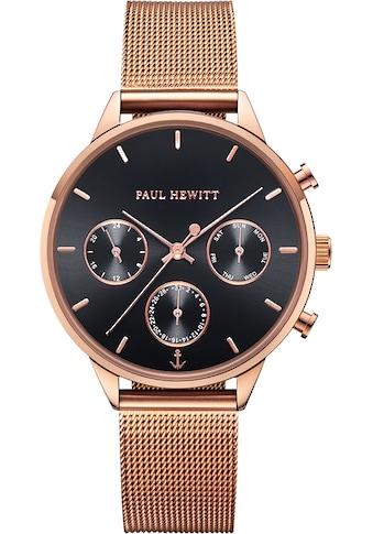 PAUL HEWITT Multifunktionsuhr »Everpulse Black Sunray Roségoldfarben Mesh, PH002812« kaufen