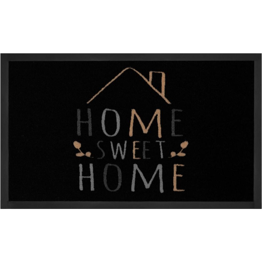 HANSE Home Fussmatte »Sweet Home 2«, rechteckig, 5 mm Höhe, Schmutzfangmatte, mit Spruch, In- und Outdoor geeignet, waschbar