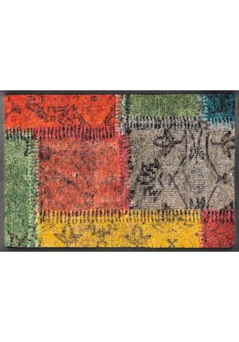 wash+dry by Kleen-Tex Fussmatte »Vintage Patches«, rechteckig, 7 mm Höhe,... kaufen